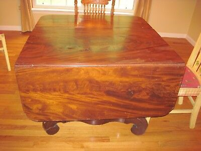 First Edition  Empire Mahogany Breakfast Table For Repair Or Parts