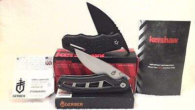 Lot of 2 New Kershaw & Gerber Pocket Knives Decoy 4700 & Cohort Folding knife