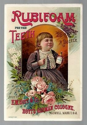 Rubifoam For The Teeth late 1800's medicine trade card - Richfield, OH - Sykes