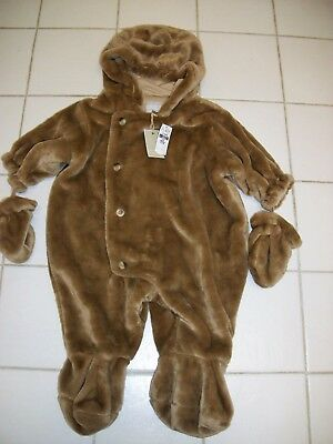 NEW!  Children's Place Baby Luxuries BEAR 1-PIECE SOFT COSTUME Size 12 Months