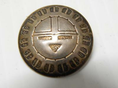 Old Pawn Vintage Hopi / Navajo Indian Kachina Face Sterling Silver / Coin Concho
