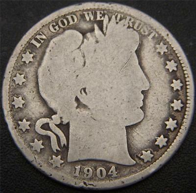 1904-O Barber Half Dollar - Majority of Major Details Are Still Well Outlined