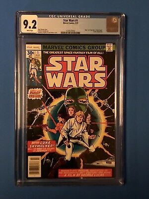 Star Wars comic #1 1977 CGC graded 9.2 WHITE PAGES First Print