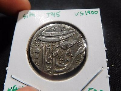 INV #T45 India Sikh Empire VS-1900 (1828) Kashmir AR Rupee KM-52.2
