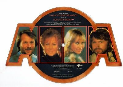 Abba Thank You For The Music Shaped Picture Disc