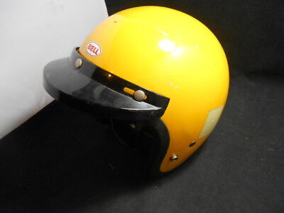 Vintage Yellow Bell Motorcycle Helmet Snell '75 Magnum II D.O.T. 7 1/4 1975