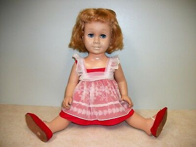 1960s Chatty Cathy Doll with Romper, Pinafore and Shoes