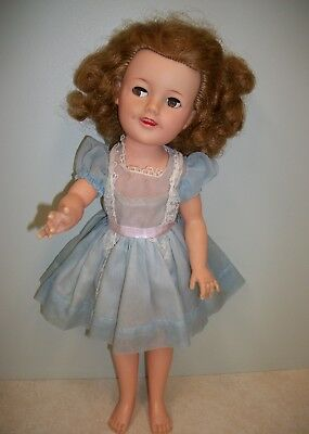 """Ideal 1957 17"""" Shirley Temple ST-17-1 Doll in Original Dress and Panties"""