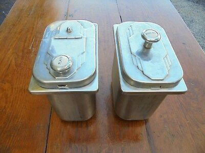 Vintage Two Stainless Steel Soda Fountain Containers