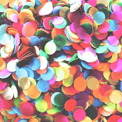 2.5cm Colorful Confetti Round Paper Pieces Balloon Filled Wedding Throws 10g
