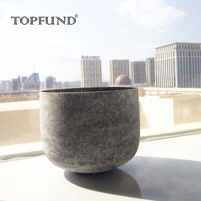 """Obsidian Fusion A 3rd Eye Chakra Frosted Crystal Singing Bowl 8"""" for Xmas"""