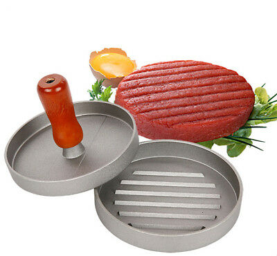 Metal Single Hamburger Patties Maker Burger Press Meat Kitchen Cooking Tool