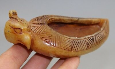 Chinese jade carved  jade Brush Washer A4221