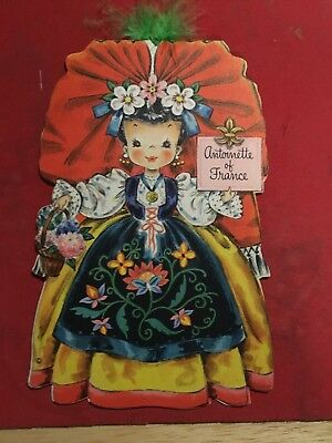 Vintage Hallmark Doll Card Dolls of the Nation Series, #19 Antoinette of France