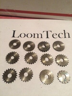 "Lot of 12 Slitting Saw Milling Cutter 7/8 Wide X 1/4"" Bore .030 To .115 Thick"