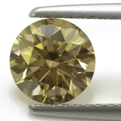 2.08 ct (vvs1)8.31 mm WHTIE YELLOW BROWN COLOR LOOSE REAL MOISSANITE for ring