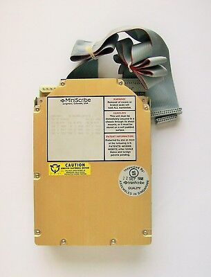 """Miniscribe 3650 40MB 5.25"""" Hard Drive with cables *Untested*"""