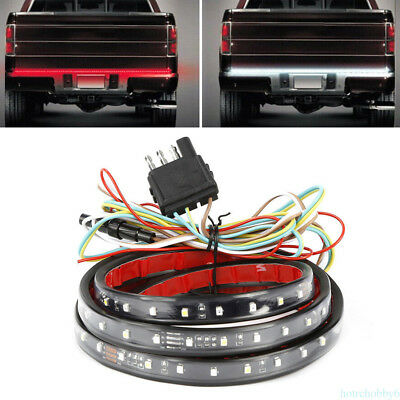 1pc 5 Function Tailgate Reverse Brake Signal Light LED Strip Lamp Double Color