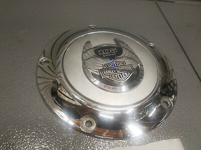 105th Anniversary clutch Derby Cover Harley Softail touring dyna Twin Cam Chrome