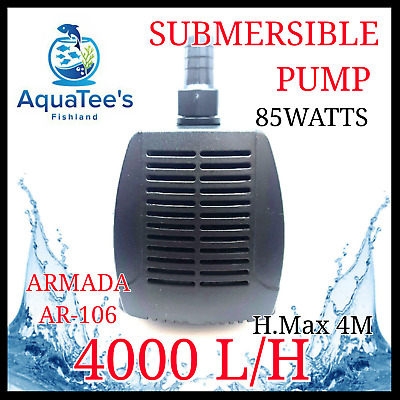 Armada Ar-106 Submersible Pond Aquarium Water Pump 4000L/h Marine Fountain Fish