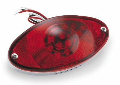 LED Cat Eye Taillight - Replacement Red Lens with Seal and Screws