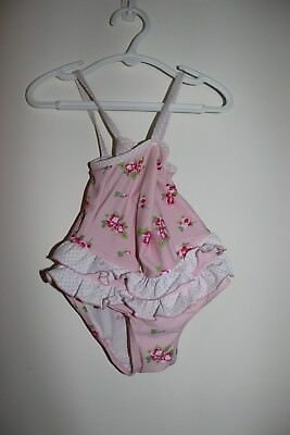 Target - Adorable Girls Swimmers - Size 1 Pink with flowers and frills - BNWOT