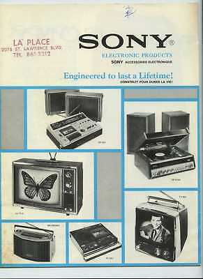 Vintage SONY 1972 Radio TV Tape Recorder CATALOG Brochure #2