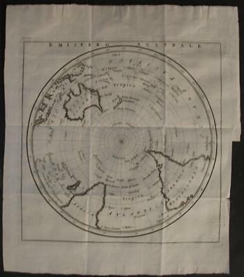 Southern Hemisphere Oceania 1781 Bellin Unusual Antique Word Map Italian Edition