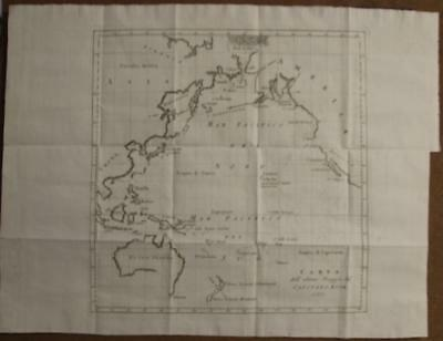 Oceania Pacific North America 1785 Bellin Rare Antique Word Map Italian Edition