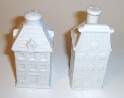House Shaped White Porcelain Salt and Pepper Shakers