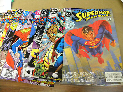 DC 1991 25 of 1st 29 issues SUPERMAN MAN OF STEEL #1 to #29 + Annual 1 DOOMSDAY