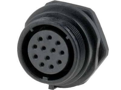 SP2112/S12 Socket Connector circular SP21 female PIN12 IP68 400V 5A WEIPU