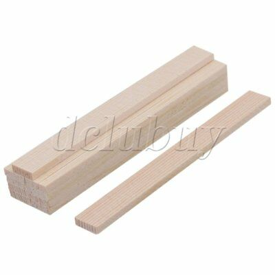 10x Bamboo Wood Strips 100mm DIY Craft Model Building Construction