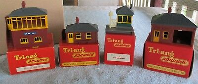 Vintage Tri-ang Triang Gatekeepers Hut, Porters & Waiting Rooms & Signal Box