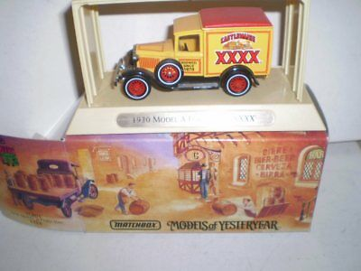 Matchbox Great Beers Models of Yesterday -1930 A Model Ford - CASTLEMAINE XXXX