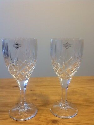 6 x Beaumont 24% Lead crystal Wine Glasses