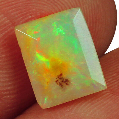 1.5CT Ethiopian Play Of Color Welo Opal Faceted Cut 100% Natural UQOL1651