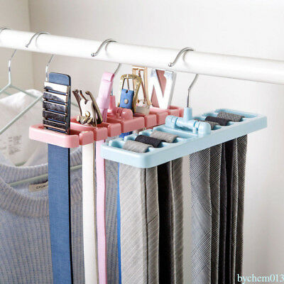Hanger Storage Rack Tie Belt Scarves Handbag Closet Organizer Accessory UN7
