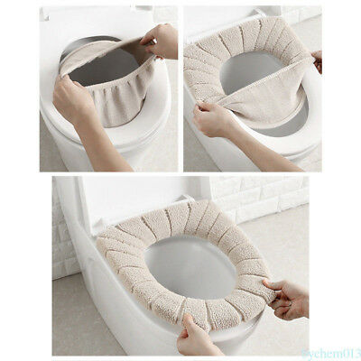 NEW Toilet Seat Pads Washable Warmer Cover Winter Comfortable 35cm YH8