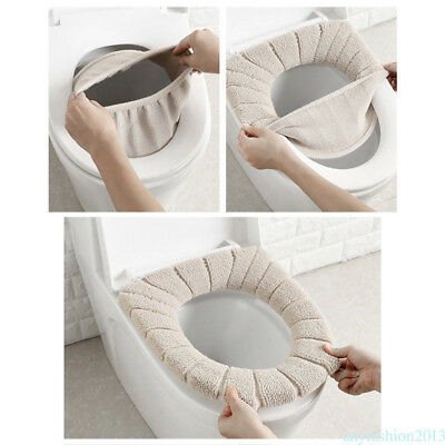 Toilet Filling Seat Cover Soft Pad Bathroom Warm Comfortable Cushion 35cm ACA1