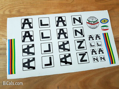 ALAN V1 decal set sticker for complete bicycle - silk screen - free shipping