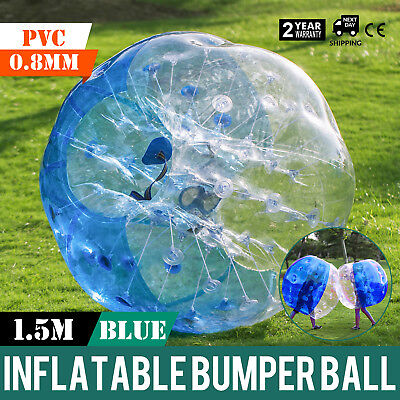 1.5M Inflatable Bumper Football PVC Zorb Ball Bubble Adult Washable Reusable