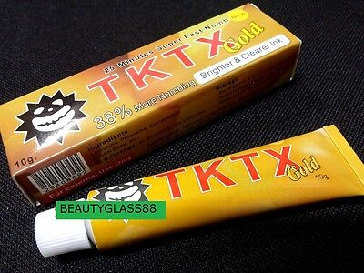 Tattoo TKTX Numbing Cream Anethetic Skin Deep Fast Numbs f/ Tattoo Body 10g gold