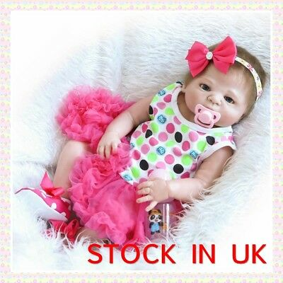 Full Body Reborn Baby Doll Soft Vinyl Silicone Realistic Newborn Baby Girl Doll
