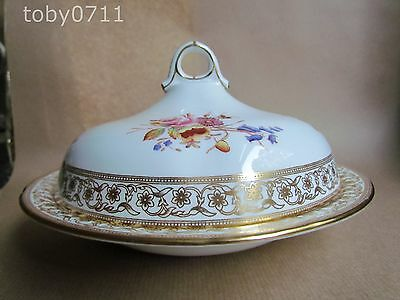 HAMMERSLEY DRESDEN SPRAYS 12673 LIDDED MUFFIN DISH T. GOODE & CO (Ref1234)