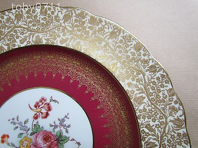 "GEORGE JONES CRESCENT CHINA DRESDEN SPRAYS 10¾"" DISPLAY PLATE (Ref1420)"