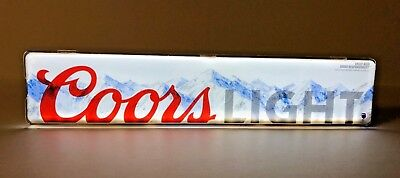 Coors Light LED Sign Motion Sensor Activated C-Store Sign - NEW In BOX & F/Ship.