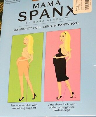 Spanx 015 Mama Full Length Maternity Sheers - Black Sz C New Open Pack Z11
