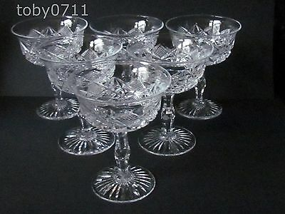 WEBB CRYSTAL SET OF SIX CHAMPAGNE GLASSES STUNNING (Ref1512)