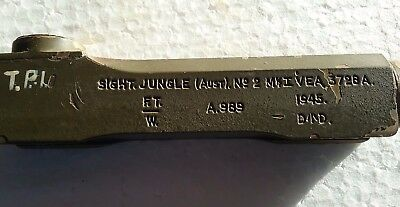 WW11 dated 1945 Army Jungle Sight Defence Department Mortar sight in pouch